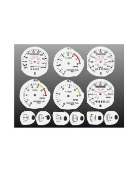 1983-1986 Ford Mustang White Face Gauges