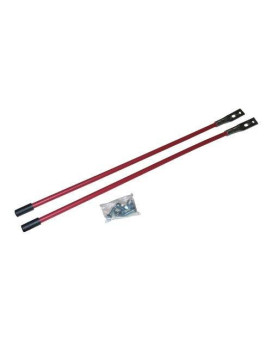 Western Red Blade Guide Sticks, Pair With Mounting Hardware