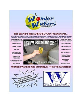 Wonder Wafers 25 CT Individually Wrapped New Car Air Fresheners