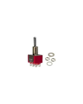 Toggle Switch/Spdt (Single Pole Double Throw/Hole Mount/Silver Plating/Epoxy Terminal Seal/On-None-On