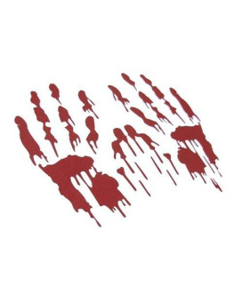 Berryzilla Bloody Hand Prints Decal Zombie Car Vinyl Sticker Large Pair Red (Come With Zombie Hunter Permit Decal) Stickerciti Brand