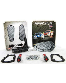 Aerocatch Flush Hood Latch And Pin Kit - Black Carbon Fiber Look - Now Includes Molded Fixing Plates - Part # 125-3000