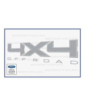 Ford F150 4x4 Off Road Metallic Silver Decals Stickers -CMS (2009-2014) [set of 2]