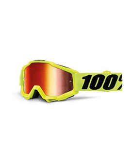 100% 50210-004-02 unisex-adult Goggle (Yellow/Mirror Red,One Size) (ACCURI ACCURI Yellow)