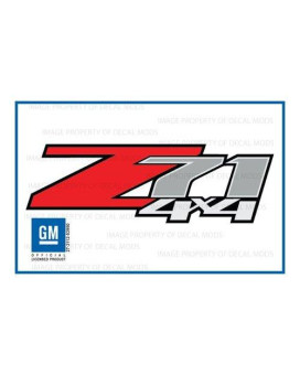 """Decal Mods Z71 4X4 Decals Stickers Fits Chevy Silverado (Dimensions 12.5"""" X 4"""") - F (2007-2013) Bed Side 1500 2500 Hd (Set Of 2) Officially Licensed"""