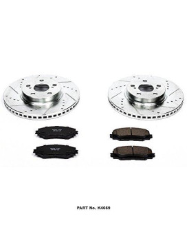 Power Stop K4669 Front Z23 Evolution Brake Kit with Drilled/Slotted Rotors and Ceramic Brake Pads