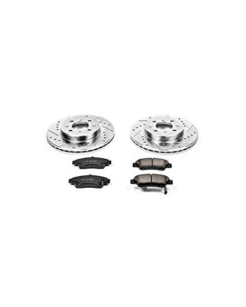 Power Stop K5382 Front Z23 Evolution Brake Kit with Drilled/Slotted Rotors and Ceramic Brake Pads