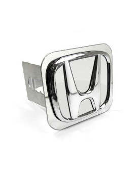Honda 3D Chrome Logo Steel Tow Hitch Cover Plug, Official Licensed