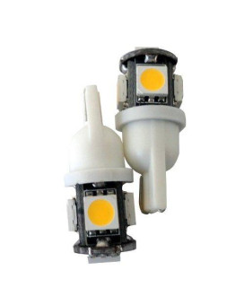 194 168 5-SMD Warm White Natural High Power LED Car Lights Bulb (Pack of 4)
