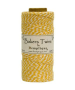 Hemptique Baker'S Twine Spool, Yellow And White