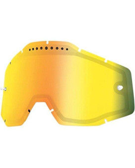 100% Dual Vented Lens for Racecraft/Accuri Goggles - Mirror Gold