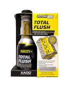 XADO Engine Oil System Cleaner with Piston Rings Anticarbon Effect - Removes Contamination - ATOMEX Total Flush Revitalizant