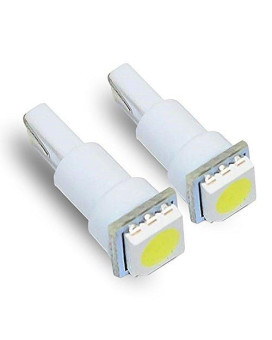 T5 74 White LED Light Bulbs Single 5050 SMD Dashboard Lamp (Pack of 4)