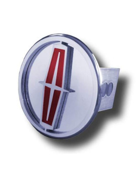 Lincoln Hitch Cover (Tow Plug) - Polished With Red Fill
