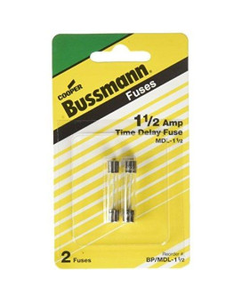Bussmann BP/MDL-1-1/2 MDL Series Glass Tube Fuse (250 Volts, 1/4˝ x 1-1/4˝ Time-Delay)