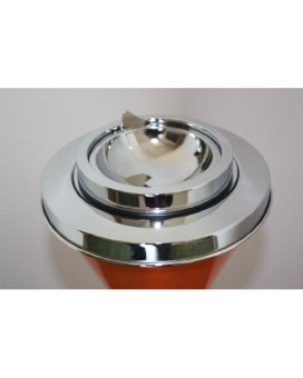 Contemporary Orange Self Cleaning Floor Stand Ashtray #41OR