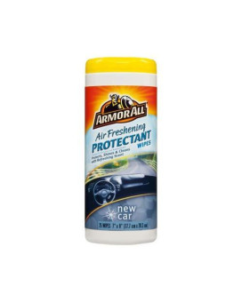 """Armor All 78533 7"""" X 8"""" New Car Scent Protectant Wipes 25 Count"""