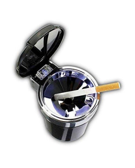 Zone Tech Car Smokeless Ash Tray Blue LED Cool Light Indicator Travel Auto Cigarette Odor Remover Smoke Diffuser