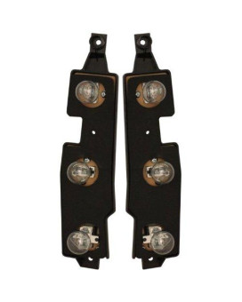 Chevy/Gmc Truck 88-00 Right &Amp; Left Pair Set Taillights Taillamps Connector Plate