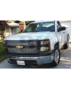 2014 Chevy Silverado Chrome Mesh Grille Insert Overlay Trim (Does NOT fit LTZ)