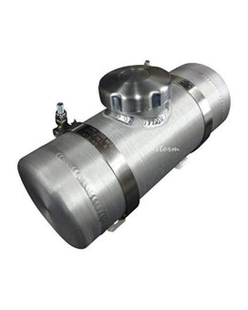 4x8 Center Fill Spun Aluminum Gas Tank - .39 Gallon GO-Kart, Mini Bike, Riding Lawn Mower - Made in the USA!