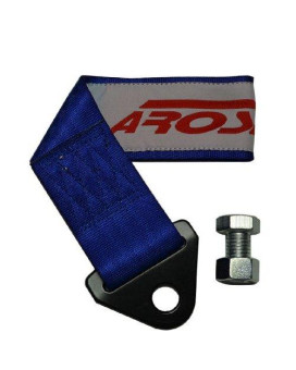 AROSPEED BLUE TOW STRAP Kit High Tensile Strength Heavy Duty Steel and Polyester 10,000 LB Pound Rating Front Rear Universal JDM for Cars Trucks