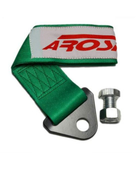 Arospeed Green Tow Strap Kit High Tensile Strength Heavy Duty Steel And Polyester 10,000 Lb Pound Rating Front Rear Universal Jdm For Cars Trucks