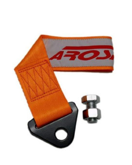Arospeed Orange Tow Strap Kit High Tensile Strength Heavy Duty Steel And Polyester 10,000 Lb Pound Rating Front Rear Universal Jdm For Cars Trucks