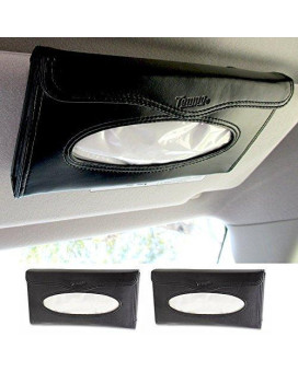 ATB 2 Car Visor Tissue Holder Caddy Kits Refill Kleenex Cases Handy Truck Black