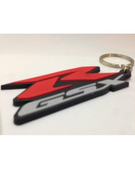 SOFT RUBBER MOTORCYCLE KEYCHAIN KEY RING