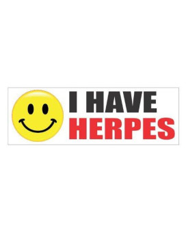 I have herpes funny vinyl decals bumper stickers
