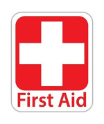 """Bargain Max Decals - Emergency First Aid Kit Safety Sign - Sticker Decal Notebook Car Laptop 4"""" X 5"""" (Color)"""