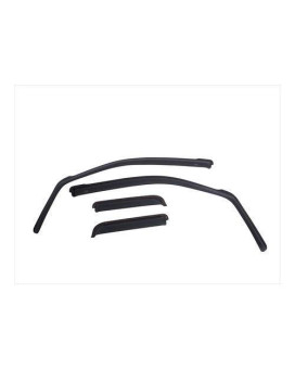 EGR 575195 SlimLine In-Channel WindowVisors Set of 4, Matte Black Finish