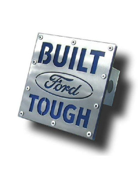 Built Ford Tough Hitch Plug - Brushed Stainless