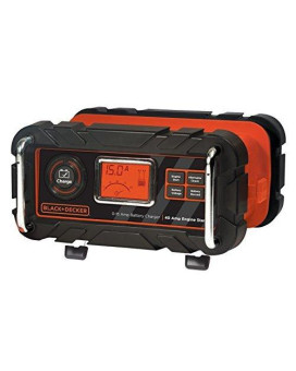 BLACK+DECKER BC15BD 15 Amp Bench Battery Charger with 40 Amp Engine Start and Alternator Check