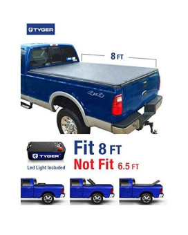 Tyger Auto TG-BC3F1025 TRI-FOLD Truck Bed Tonneau Cover 1999-2016 Ford F-250 F-350 F-450 Super Duty   Styleside 8' Bed