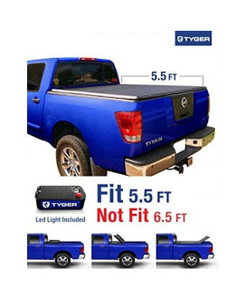 Tyger Auto TG-BC3N1026 TRI-FOLD Truck Bed Tonneau Cover 2004-2015 Nissan Titan   Fleetside 5.5' Bed   For models with or without the Utili-track System
