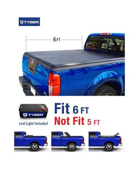 Tyger Auto TG-BC3N1029 TRI-FOLD Truck Bed Tonneau Cover 2005-2017 Nissan Frontier; 2009-2014 Suzuki Equator   Fleetside 6' Bed   For models with or without the Utili-track System