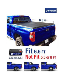 Tyger Auto TG-BC3T1033 TRI-FOLD Truck Bed Tonneau Cover 2007-2013 Toyota Tundra   Fleetside 6.5' Bed   For models with or without the Deckrail System