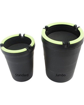Stub Out Glow in the Dark Cup-Style Self-Extinguishing Cigarette Ashtray - Black - Jumbo by CigarExtras