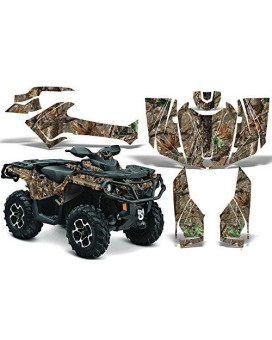 2012-2014 Can-Am Outlander SST G2 500/650/800/1000 AMRRACING ATV Graphics Decal Kit:WoodLand-Camo