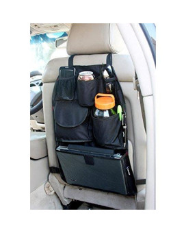 YupBizauto Brand TB168 Car Auto Front or Back Seat Organizer Holder Multi-Pocket Travel Storage Bag Black Color