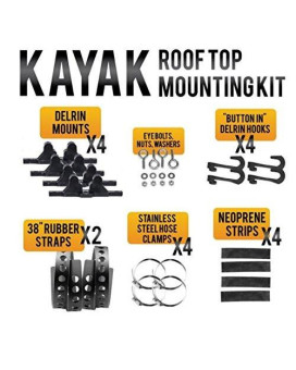 Quick Fist 90065 Kayak Roof Top Mounting Kit