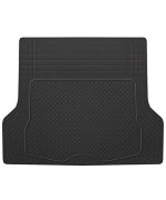 BDK Heavy Duty Rubber Cargo Floor Mat - All Weather Trunk Protection, Trimmable to Fit & Durable Rubber (Black)