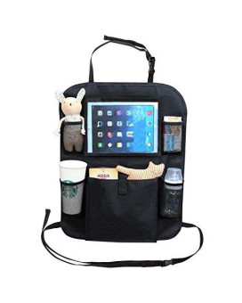 """AutoMuko Car Organizer by iPad and Tablet Holder with Car Seat Organizer - Touch Screen Pocket for Android & iOS Tablets up to 9.5"""" -With One-year Limited Warranty"""