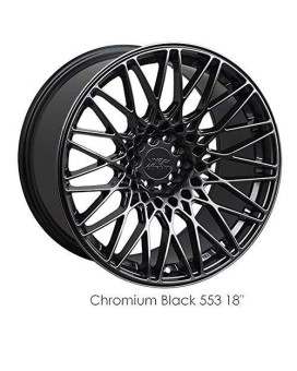 XXR 553 17 Hyperblack Wheel / Rim 5x100 & 5x4.5 with a 36mm Offset and a 73.1 Hub Bore. Partnumber 553791050