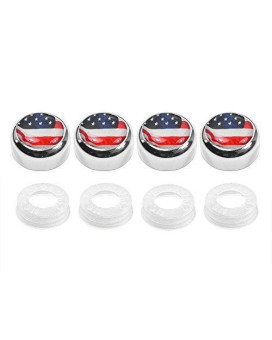 USA Flag Screw Covers for License Plate Frame
