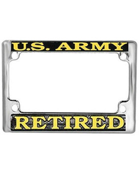 US Army Retired Motorcycle License Plate Frame