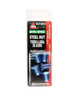 Steel Tube Nut, 3/16 (M12x1.0 Bubble), 5/card