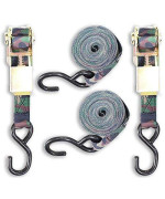 Toolusa 2 Piece Green Camouflage Ratchet Tie Down Set: Ta-79152